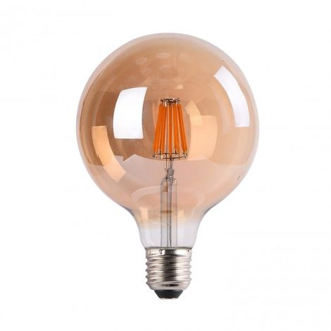 Bombilla LED Filamento 7W G95 ámbar 2700k
