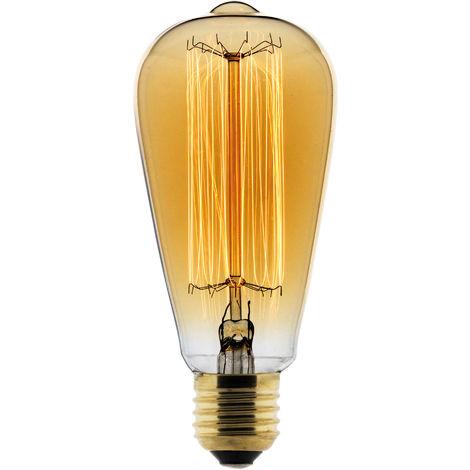 Bombilla LED Filamento Deco carbón Edison 25W E27 2700K (Luz Cálida) - Elexity