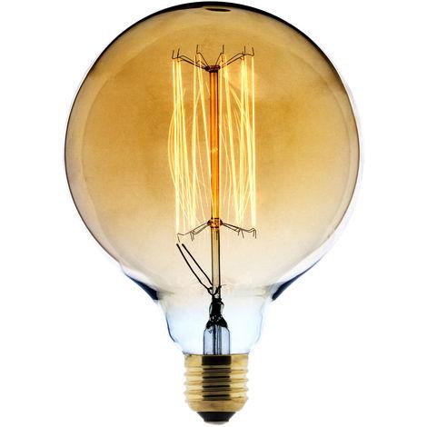 Bombilla LED Filamento Deco carbón Globo Ø125 25W E27 2700K (Luz Cálida) - Elexity