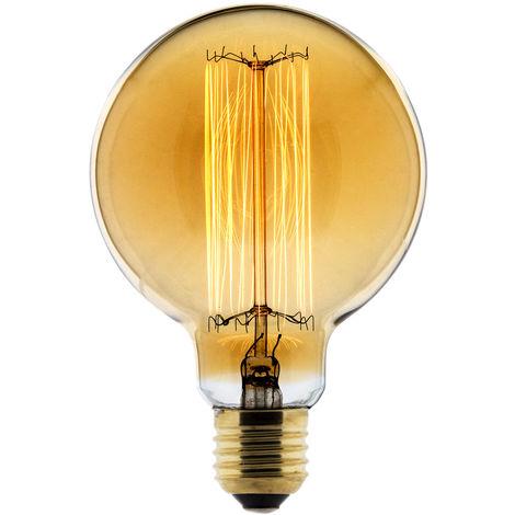 Bombilla LED Filamento Deco carbón Globo Ø95 25W E27 2700K (Luz Cálida) - Elexity