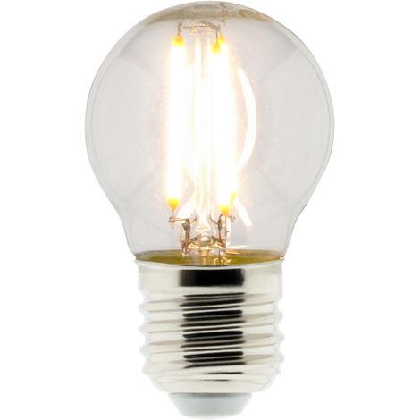 Bombilla LED Filamento Deco Esférica 4W E27 470lm 2700K (blanco cálido)