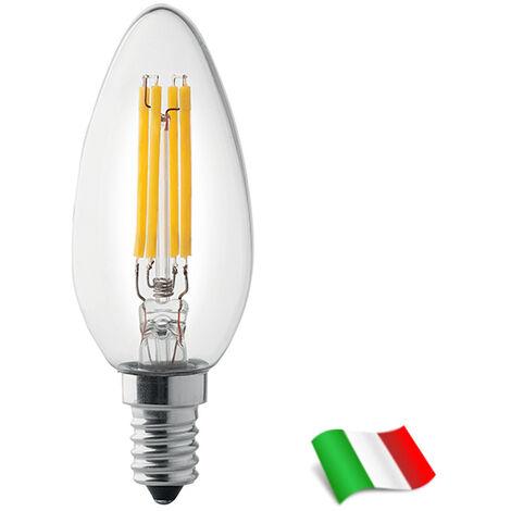 Bombilla LED Filamento E14 a Vela 4W 2500K° Wiva