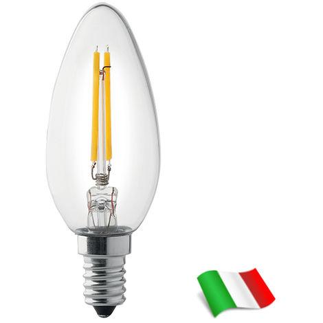 Bombilla LED Filamento E14 a Vela 4W 3000K° Wiva