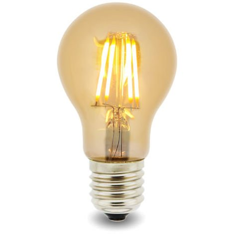 Bombilla LED Filamento E27 A60 4W Ámbar Blanco Cálido 2300K | IluminaShop