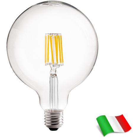 Bombilla LED filamento E27 G125 8W 3000K° Wiva