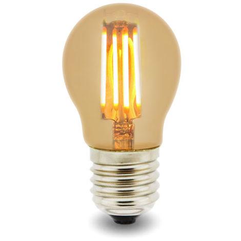 Bombilla LED Filamento E27 G45 4W Ámbar Blanco Cálido 2300K | IluminaShop