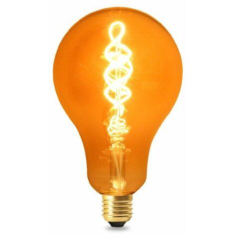 Bombilla LED Filamento Espiral E27 A100 4W Ámbar Blanco Cálido 2300K | IluminaShop