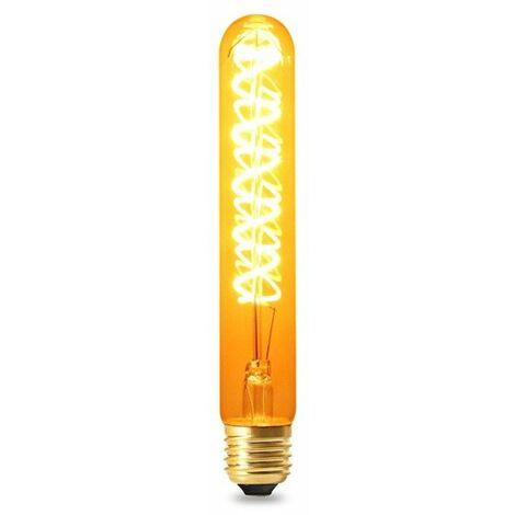 Bombilla LED Filamento Espiral E27 T30 4W Ámbar Blanco Cálido 2300K | IluminaShop