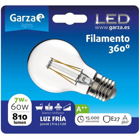 Bombilla LED filamento estándar 7W, E27, 810 lumenes, Luz fría