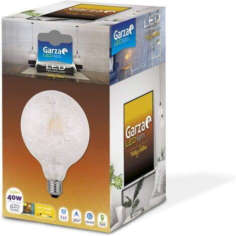 Bombilla LED filamento Ice Globo G125 7W 420 lumenes equivalente a 40W. E27. 360º. Luz cálida