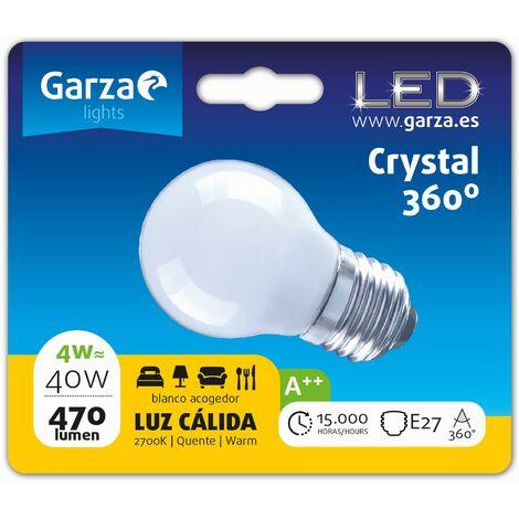 Bombilla LED filamento opal esférica 4W, E27, 470 lumenes, Luz cálida (equivale a 40W) - Vintage Edition
