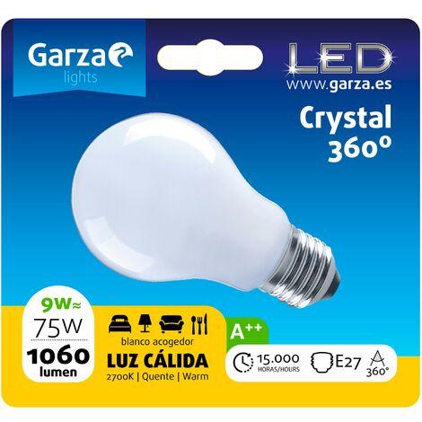 Bombilla LED filamento opal estándar 9W, E27, 1060 lumenes, Luz cálida (equivale a 75W) - Vintage Edition