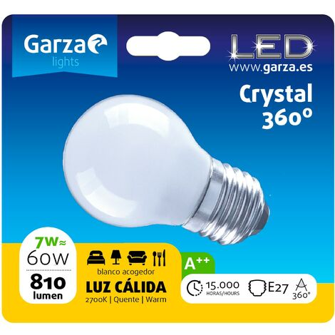 Bombilla LED filamento opal estándar luz cálida 7W, E27, 810 lumenes (equivale a 60W) - Vintage Edition