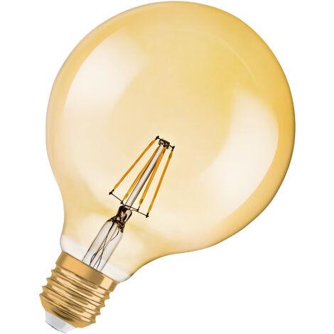 Bombilla LED Filamento Retro Globo E27 Oro 4.5W 2500K Luz Calida OSRAM