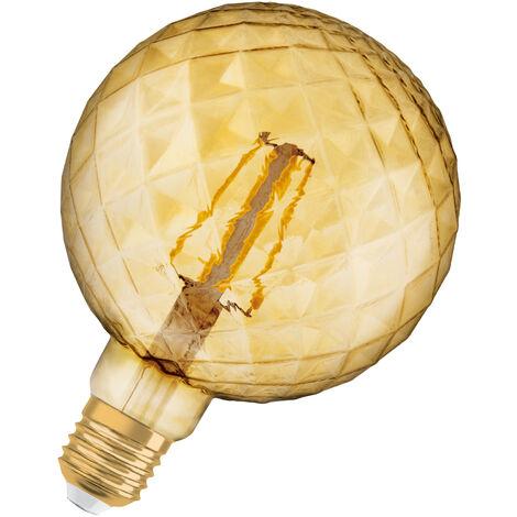 Bombilla LED Filamento Retro Piña E27 Oro 4.5W 2700K Luz Calida OSRAM