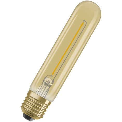 Bombilla LED Filamento Retro Tubo E27 Oro 2.5W 2000K Luz Calida OSRAM