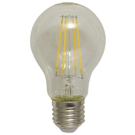 Bombilla led filamento standar e27 6 w 60 w. luz calida. 806 lumenes