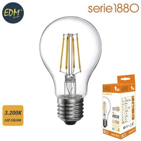 Bombilla Led Filamento Standard 4W 400 Lumens E27 3.200K Luz Calida Serie 1880 - NEOFERR
