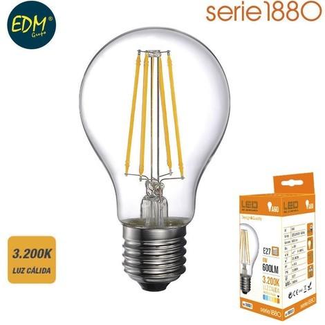 Bombilla Led Filamento Standard 6W 600 Lumens E27 3.200K Luz Calida Serie 1880 - NEOFERR