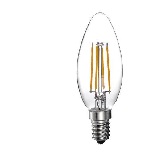 Bombilla Led Filamento Vela 4W 400 Lumens E14 3.200K Luz Calida Serie 1880 - NEOFERR