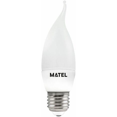 Bombilla Led Flama Vela Blanca 8W E27 800Lm Matel