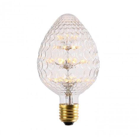 Bombilla LED Fresa 3W Transparente luz cálida