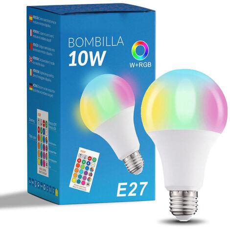 Bombilla LED Future A60 E27 10W RGB+W con Mando RGB Opal   IluminaShop