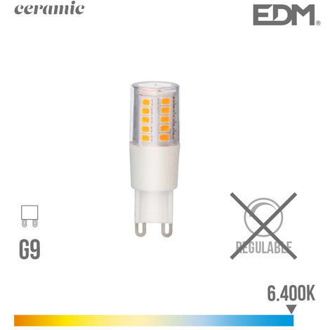 BOMBILLA LED G-9 5.5W 6400K 230V 650LUMENS CON BASE CERAMICA EDM - NEOFERR