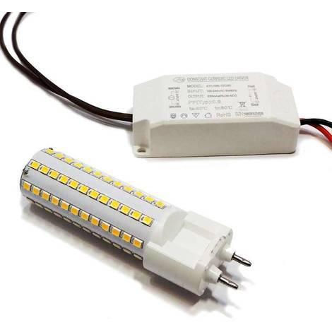 Bombilla LED G12 10W 230V con Driver Externo   Blanco Frío