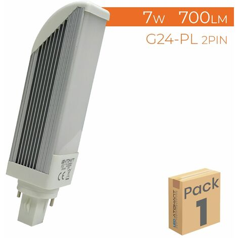 Bombilla LED G24-PL 7W 700LM (2 pin) A++   Pack 2 Uds. - Blanco Frío 6500K