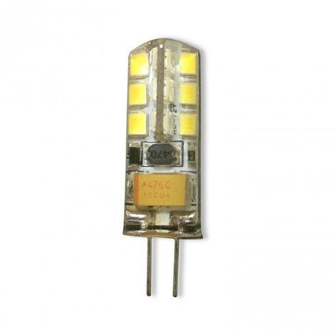 Bombilla LED G4 12V AC/DC 3W de silicona