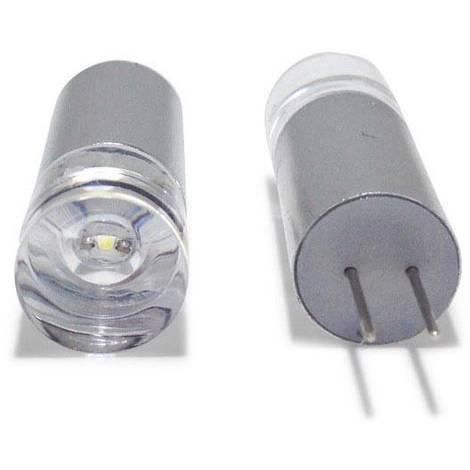Bombilla LED G4 Bi-Pin 1W 12V tubular | Blanco Frío