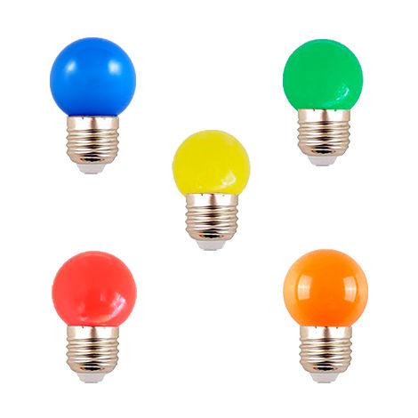 Bombilla LED G45 E27 0.5W de Colores