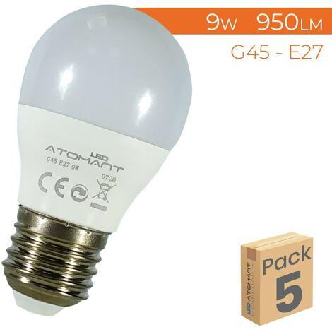 Bombilla LED G45 E27 9W 800LM A++   Pack 50 Uds. - Blanco Neutro 4500K
