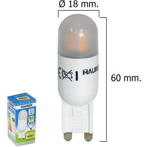 Bombilla led g9 2,5 w 25 w. 250 lumen luz calida