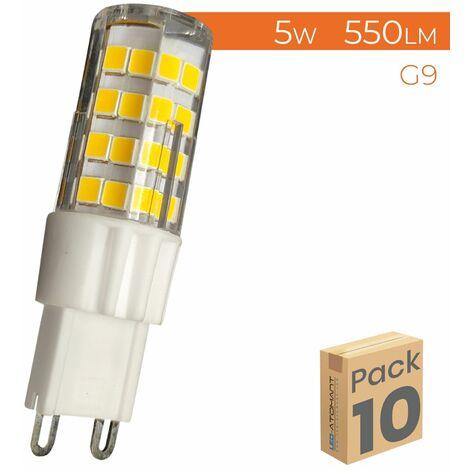 "main image of ""Bombilla LED G9 5W 550LM 300º Regulable | Pack 4 Uds. - Blanco Neutro 4500K"""