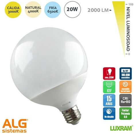 Bombilla led globo 20W Luxram -Disponible en varias versiones