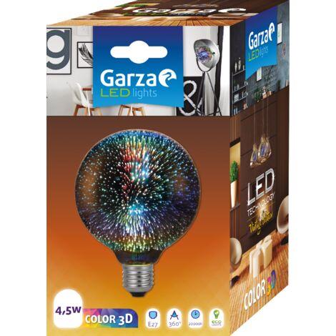 Bombilla LED globo 3D con destellos en diferentes colores, 4,5W, casquillo E27