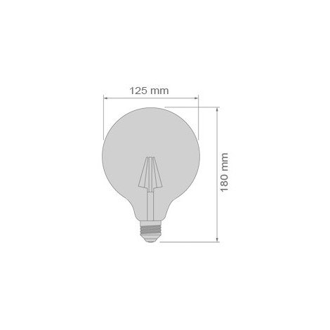 BOMBILLA LED GLOBO 8W REGULABLE/DIMMABLE