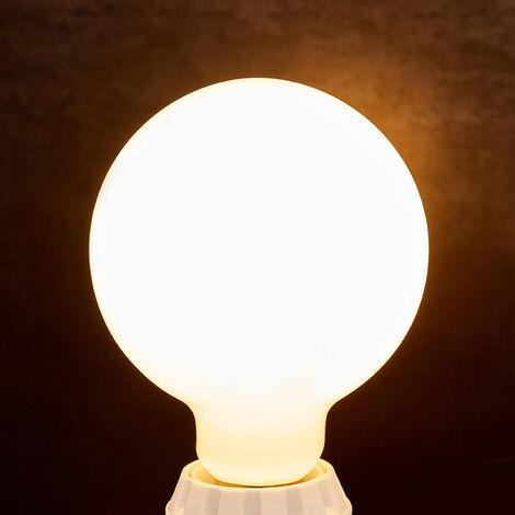 Bombilla LED globo E27 8W, 880Lm, 2.700K, opalino