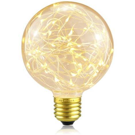 Bombilla LED Globo E27 G125 Luz de hada 2W