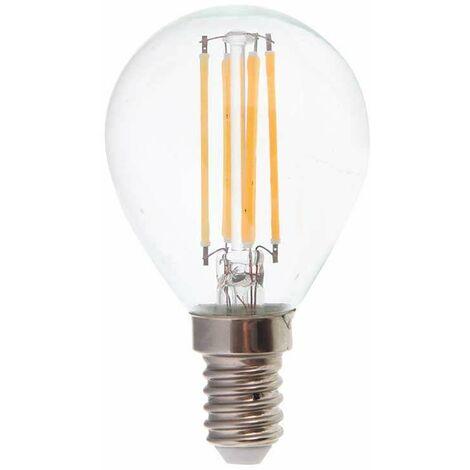 Bombilla led E14 filamento globo P45 4W Temperatura de color - 2700K Blanco cálido