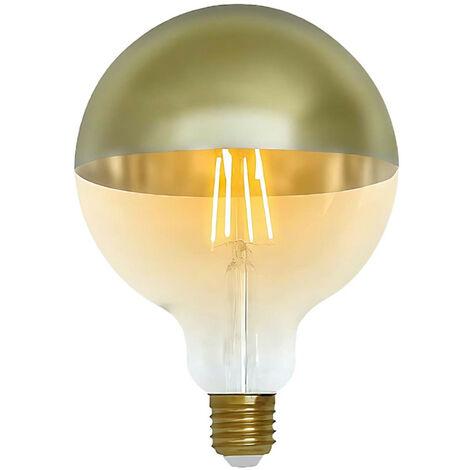Bombilla LED Globo G120 Cúpula Oro E27 6W Equi.48W 600lm Vintage 15000H