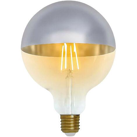 Bombilla LED Globo G120 Cúpula Plata E27 8W Equi.60W 806lm 2100K Vintage 15000H 7hSevenOn Vintage