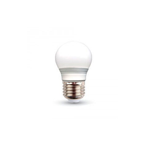 Bombilla led globo G45 E27 3W 200° tapa blanca