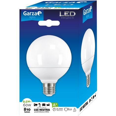 Bombilla LED Globo G95 9.5W E27 220º 806 lumenes 220º Luz fría