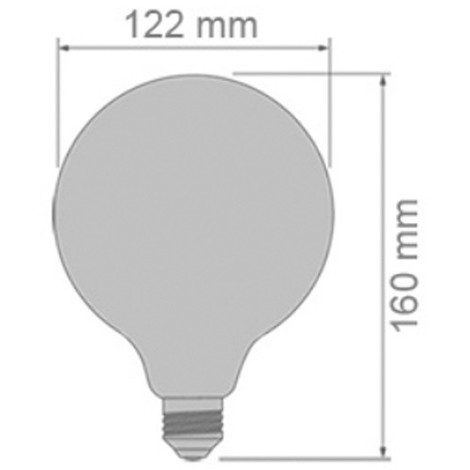 Bombilla LED Globo Milky E27 (12W)