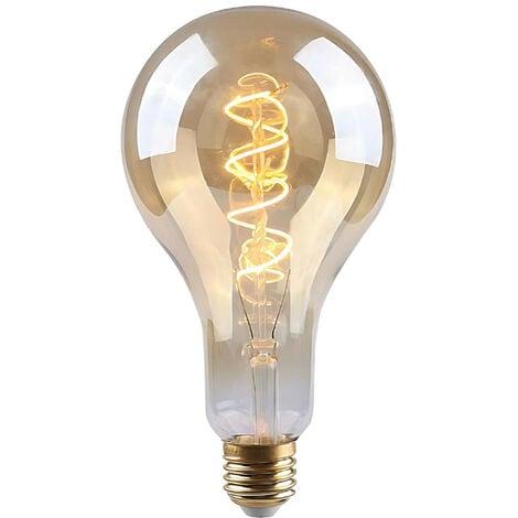 Bombilla LED Gota E27 4W Equi.17W 160lm Regulable 2100K Gold 15000H 7hSevenOn Vintage