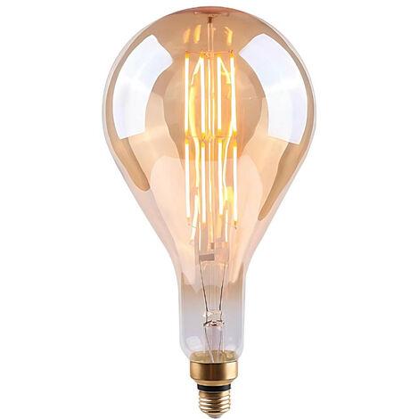 Bombilla LED Gota Gigante E27 8W Equi.40W 500lm Regulable Gold 15000H 7hSevenOn Vintage