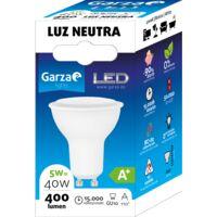 Bombilla LED GU10 5W 110º, 400 lumenes, Luz neutra